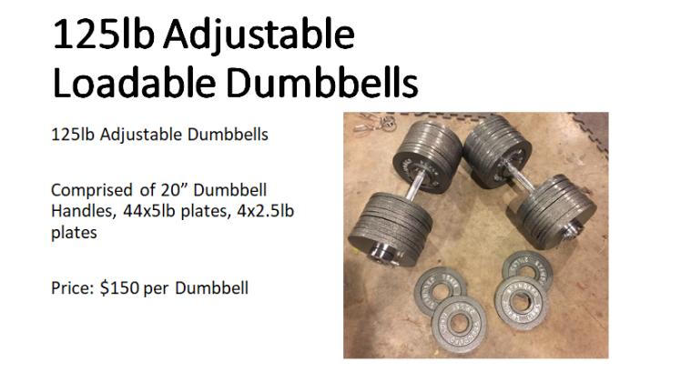 Adjustable Loadable Dumbbells